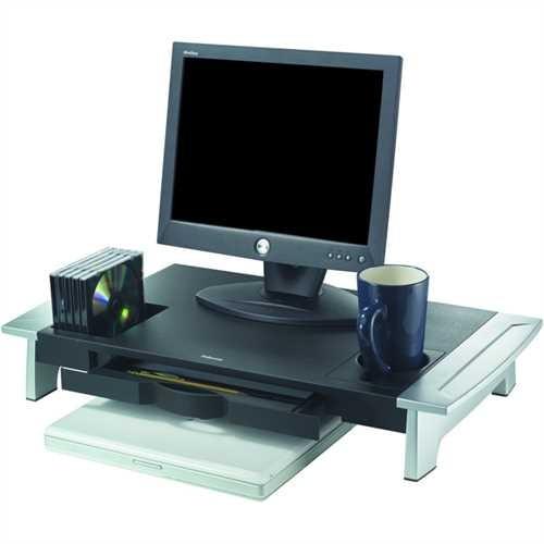 Fellowes Monitorständer Groß, Tragfähigkeit: 36 kg, schwarz/silber