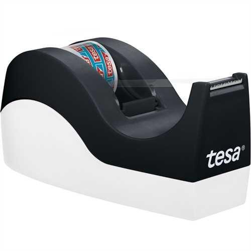 Tesa Tischabroller 53914, bis 19 mm x 33 m, schwarz / weiß
