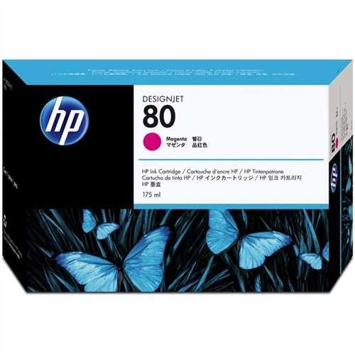 HP Tintenpatrone 80, C4874AE, original, magenta, 175 ml