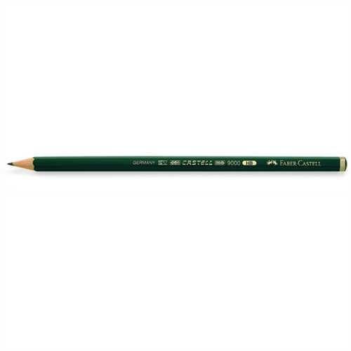 FABER-CASTELL Bleistift CASTELL 9000, sechseckig, HB (12 Stück)