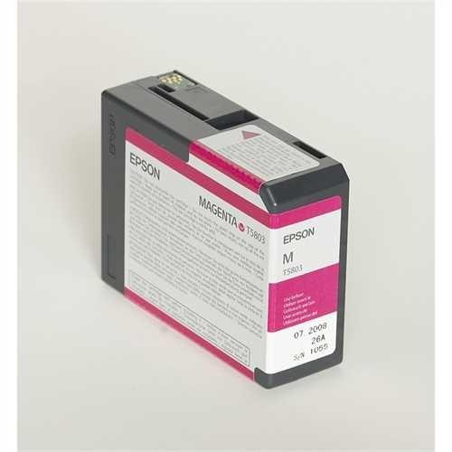 EPSON Tintenpatrone, T5803, C13T580300, original, magenta, 80 ml