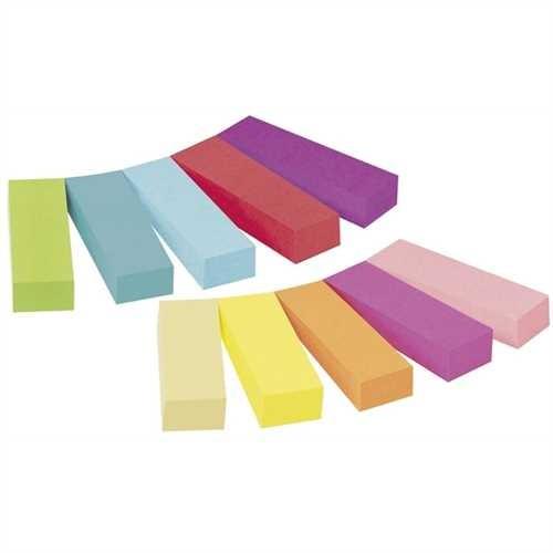Post-it Haftnotiz Page Marker, 12,7 x 44,4 mm, 10farbig sortiert, 50 Blatt (10 Blocks)