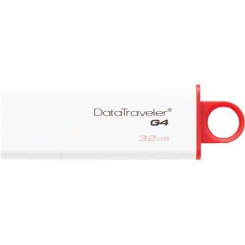 Kingston USB-Stick DataTraveler G4, 32 GB, weiß/rot