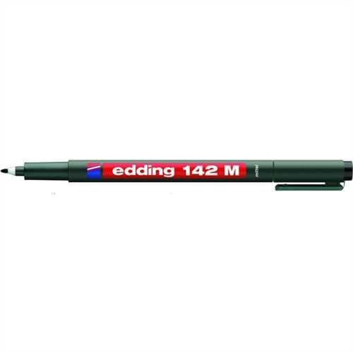 edding OH-Stift, 142, M, permanent, Rundspitze, 1 mm, Schreibfarbe: schwarz