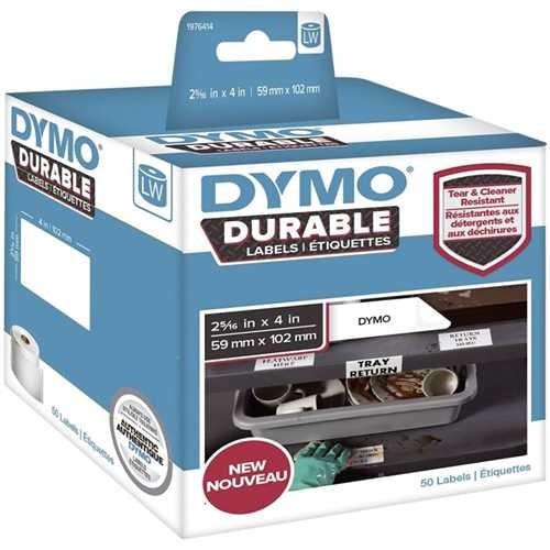 DYMO Etikett LabelWriter, auf Rolle, selbstklebend, Kunststoff, 59 x 102 mm, weiß (50 Stück)