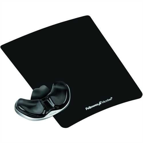 Fellowes Mauspad Health-V™ Crystals™, mit Handgelenkauflage, schwarz