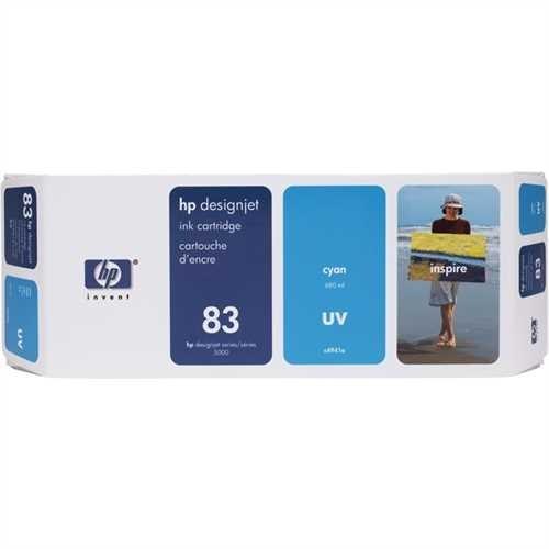 HP Tintenpatrone 83, C4941A, original, UV, cyan, 680 ml