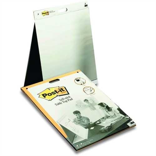 Post-it Flipchartblock Meeting Chart Table Top, blanko, 58,4 x 50,8 cm, holzfrei, weiß, 20 Blatt (1
