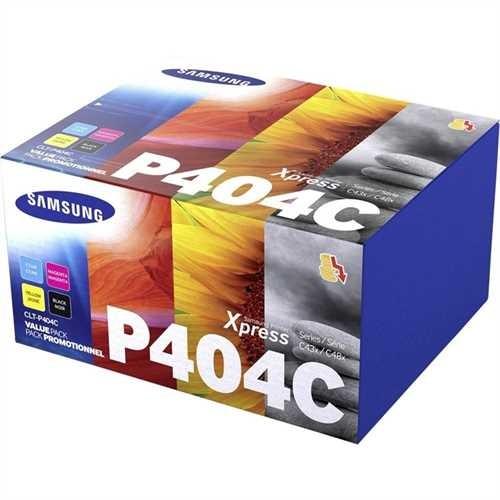 SAMSUNG Toner, CLT-P404C, original, 4er sortiert, 1.500/1.000 Seiten (schwarzweiß/farbig) (4 Stück)