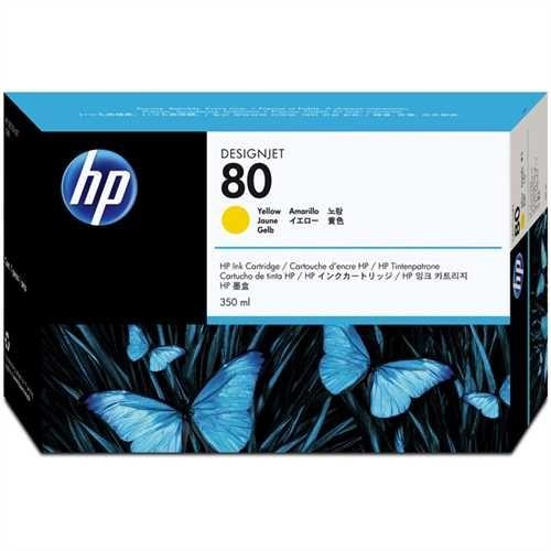 HP Tintenpatrone 80, C4848AE, original, gelb, 350 ml