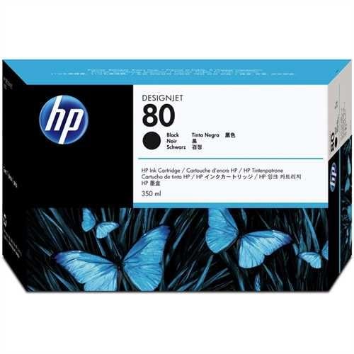 HP Tintenpatrone 80, C4871AE, original, schwarz, 350 ml