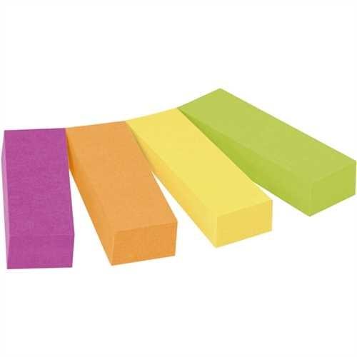 Post-it Haftnotiz Page Marker, 12,7 x 44,4 mm, 4farbig sortiert, 50 Blatt (4 Blocks)
