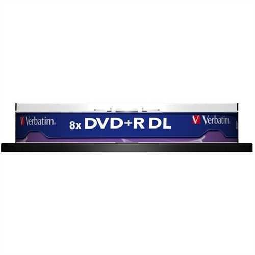 Verbatim DVD+R, Double Layer, Spindel, einmalbeschreibbar, 8,5 GB, 240 min, 8 x (10 Stück)