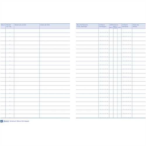 AVERY Zweckform Fahrtenbuch, Karton, A5 hoch, Recycling, weiß, Einband: blau, 32 Blatt