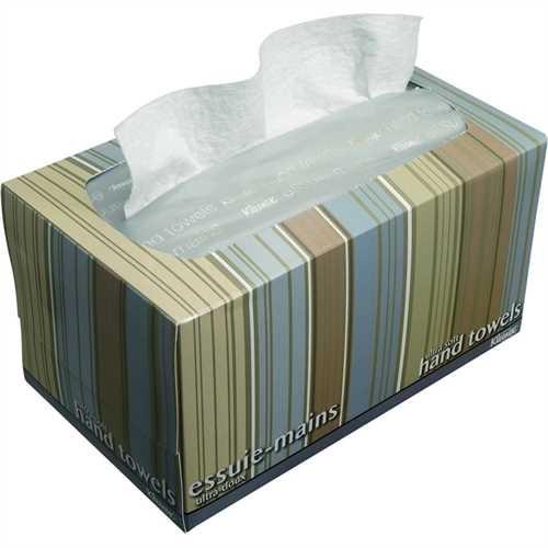 KLEENEX Papierhandtuch ultra soft, Zellstoff, 1lagig, 26 x 22,5 cm, hochweiß (70 Stück)