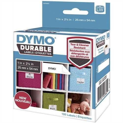 DYMO Etikett LabelWriter, auf Rolle, selbstklebend, Kunststoff, 25 x 54 mm, weiß (160 Stück)