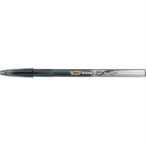 BIC Gelschreiber Cristal Gel+, mit Kappe, 0,35 mm, Schreibfarbe: schwarz