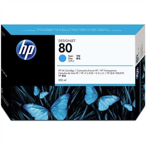 HP Tintenpatrone 80, C4846AE, original, cyan, 350 ml