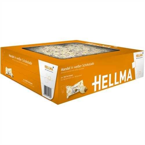 HELLMA Praline, Mandel in weißer Schokolade, Karton, 390 x 1 Stück