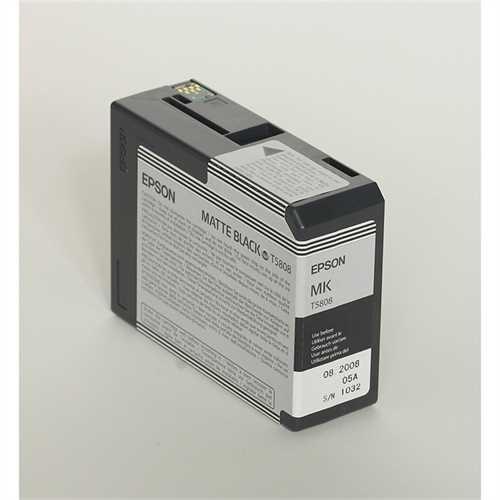 EPSON Tintenpatrone, T5808, C13T580800, original, mattschwarz, 80 ml