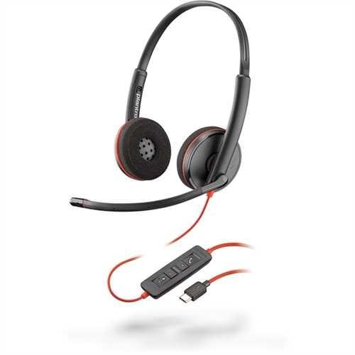 PLANTRONICS Headset, Blackwire C3220, Kopfbügel, Stereo, USB C, 118 g, schwarz
