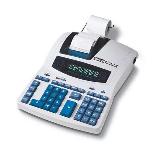 ibico Tischrechner, 1232X, Netzanschluss, druckend, flaches Display, Digitron, 12stellig, 230 x 300