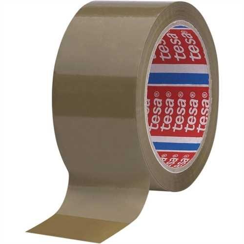 tesa Verpackungsklebeband tesapack 4089, PP, selbstklebend, 50 mm x 66 m, braun (6 Stück)
