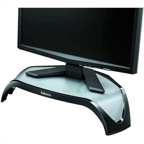 Fellowes Monitorständer Smart Suites™, 3fach höhenverstellbar, Tragfähigkeit: 10 kg, schwarz/silber