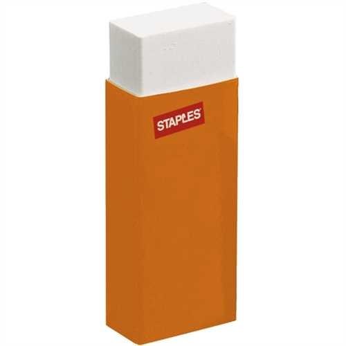 STAPLES Radierer, mit Schutzhülle, Kunststoff, für: Bleistifte, 61 x 22 x 10 mm, weiß