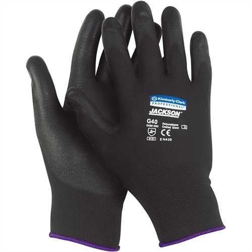 JACKSON SAFETY* Handschuh G40, Polyurethanbeschichtung, Größe: 8, schwarz (12 Paare)