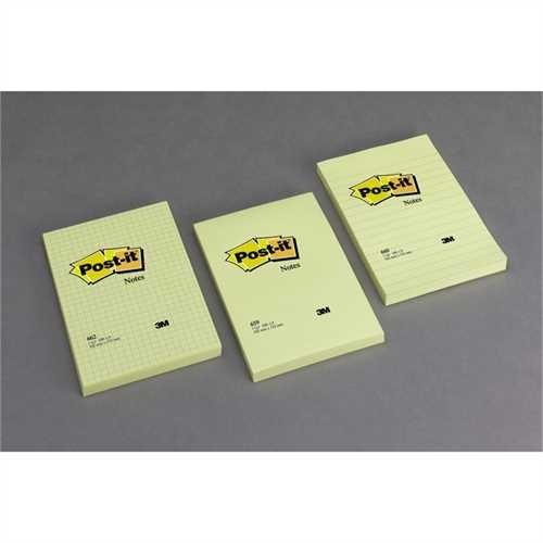 Post-it Haftnotiz Super Sticky, 127 x 76 mm, gelb, 90 Blatt (6 Blocks)