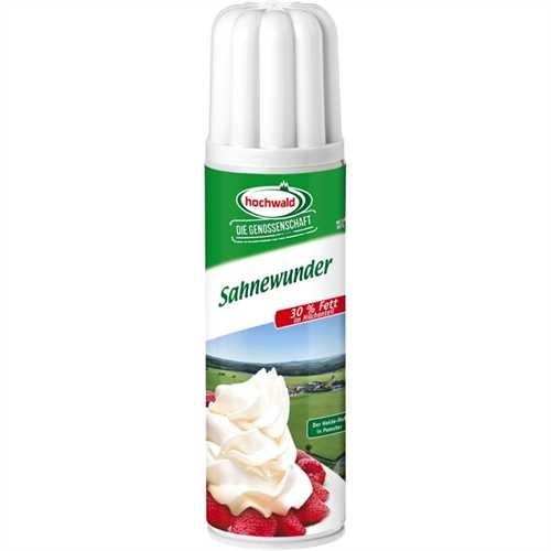 hochwald Sprühsahne Sahnewunder, 30 %, Dose, 12 x 250 ml