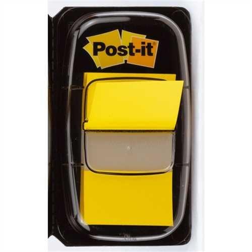 Post-it Haftmarker Index 680, 25,4 x 43,2 mm, gelb, 50 Blatt