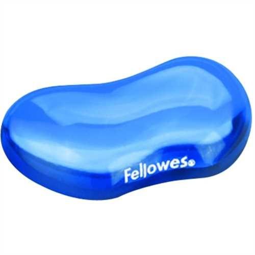 Fellowes Handgelenkauflage Crystals™Gel, für Maus, 12,3 x 8,7 cm, Stärke: 2,5 cm, blau