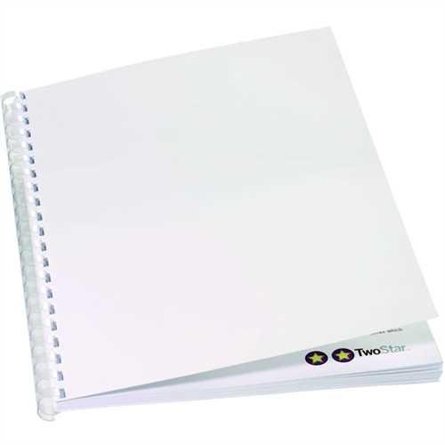GBC Umschlagmaterial ibiStol, Karton, 350 g/m², A4, weiß, matt (100 Stück)