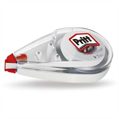 Pritt Korrekturroller Mini Roller, permanent, Einweg, 4,2 mm x 7 m, 1zeilig, weiß (1 Stück)