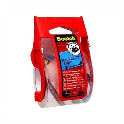 Scotch Verpackungsklebeband EXTRA, mit Handabroller, PP, selbstklebend, 48 mm x 20 m, transparent