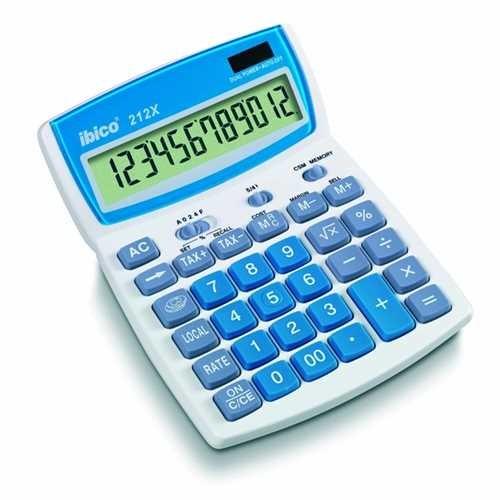 ibico Tischrechner, 212 X, Solar-/Batteriebetrieb, bewegliches Display, LCD, 12stellig, 1zeilig, 140