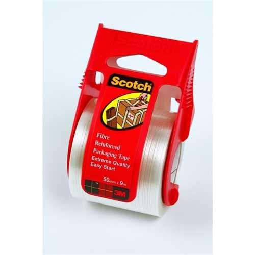 Scotch Verpackungsklebeband, mit Handabroller, PP, selbstklebend, 48 mm x 9 m, farblos