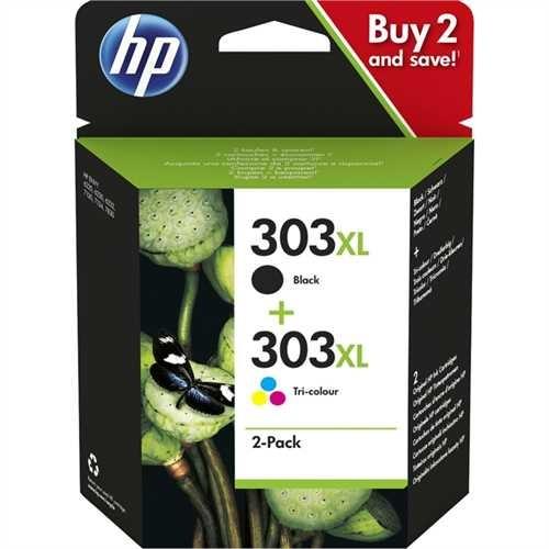 HP Tintenpatrone, 303XL, 3YN10AE, original, schwarz / 3farbig, 12/10 ml (schwarzweiß/farbig), 600/41