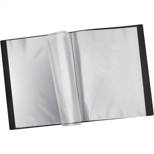 STAPLES Sichtbuch, PP, 24 Hüllen, A4, schwarz