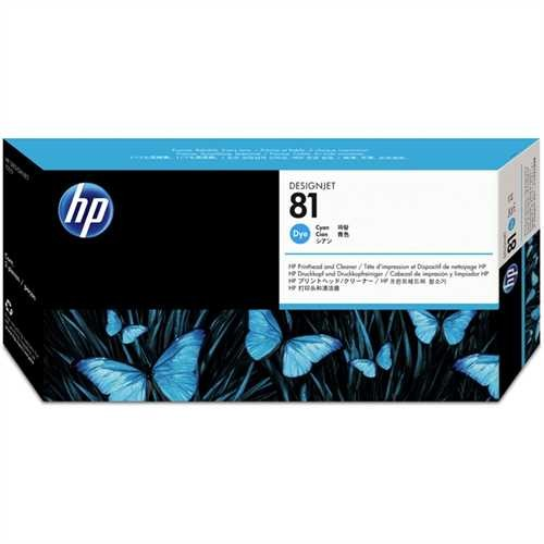 HP Druckkopf 81, C4951A, original, Dye, cyan