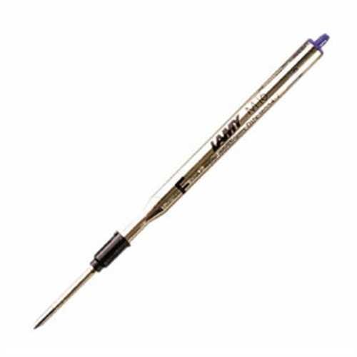 LAMY Kugelschreibermine M 16, Großraum, Metall, F, Schreibfarbe: blau