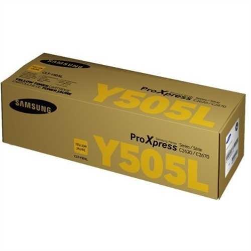 SAMSUNG Toner, CLT-Y505L, original, gelb, 3.500 Seiten