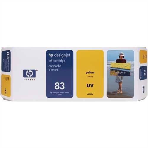 HP Tintenpatrone 83, C4943A, original, UV, gelb, 680 ml