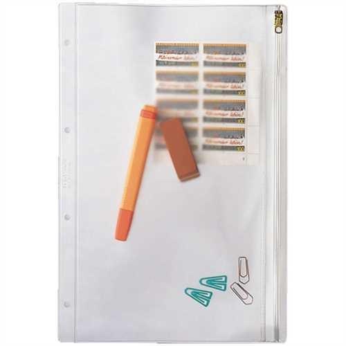 LEITZ Kleinkrambeutel, PVC-Weichfolie, Standardlochung, A4, 0,2 mm, farblos