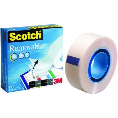 Scotch Klebeband Magic™ Tape 811, selbstklebend, ablösbar, 19 mm x 33 m, transparent (1 Rolle)