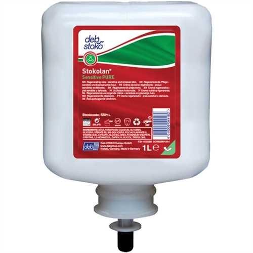STOKO Hautcreme Stokolan Sensitive PURE, Kartusche, parfümfrei, weiß