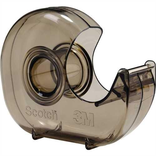 Scotch Handabroller H127, leer, Kunststoff, für Rollen bis 19 mm x 33 m, grau, transparent