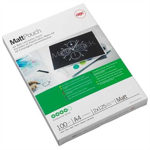GBC Laminiertasche Matt™ Pouch, A4, 216 x 303 mm, 0,125 mm (100 Stück)
